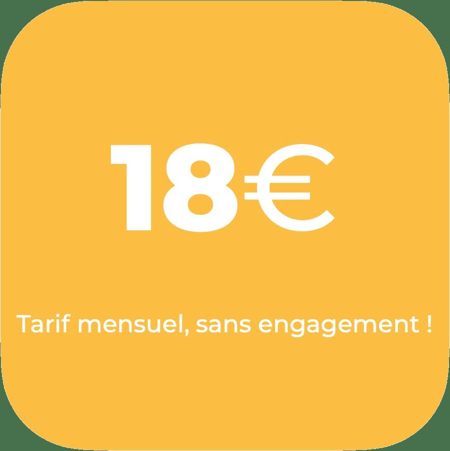 Tarif mensuel 18€ sans engagement logiciel MicroDesk